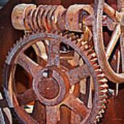 Rust Gears And Wheels Art Print