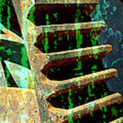 Rusted Gears Abstract Art Print