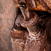 Rusted Gold Mine Equipment Art Print