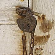 Rusted Lock Art Print
