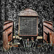 Rusted Old Tractor Art Print