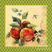 Rustic Apples On Moroccan Art Print