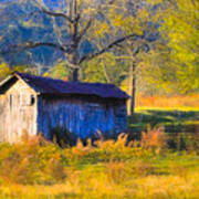 Rustic Autumn Landscape In North Georgia Art Print by Mark E Tisdale