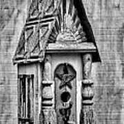 Rustic Birdhouse - Bw Art Print
