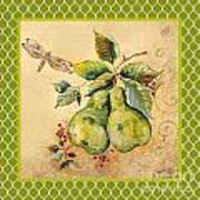 Rustic Pears On Moroccan Art Print