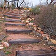 Rustic Stairway Art Print