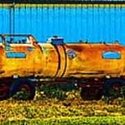 Rustic Tank Art Art Print