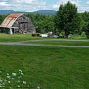 Rustic Vermont Barn Art Print