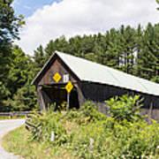 Rustic Vermont Covered Bridge Art Print