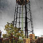 Rustic Water Tower Art Print