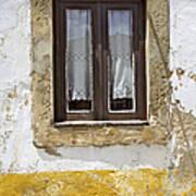 Rustic Window Of Medieval Obidos Art Print