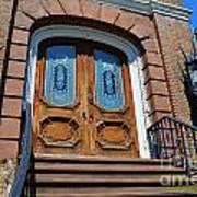 Rustic Wood Charleston Door Art Print