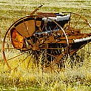 Rusting Farm Equipment Art Print
