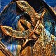 Rusty Anchor Art Print