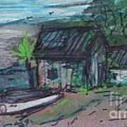 Rusty Boathouse Art Print