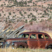 Rusty Chevrolet Special Deluxe In Manila Utah Art Print