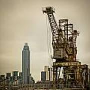 Rusty Cranes At Battersea Power Station Art Print