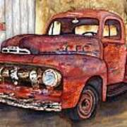 Rusty Crusty Ford Truck Art Print