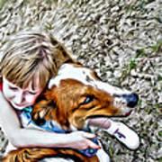 Rusty Dog Love Art Print