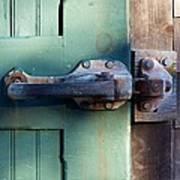 Rusty Door Latch Art Print