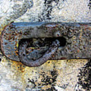 Rusty Dusty And Grimy Lock Plate Art Print