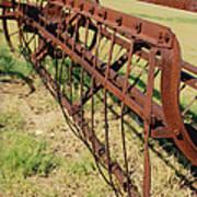Rusty Hay Rake Art Print
