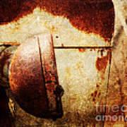 Rusty Headlamp Art Print