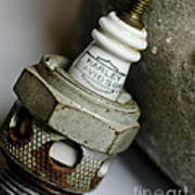 Rusty Old Spark Plug  5  Art Print by Wilma  Birdwell