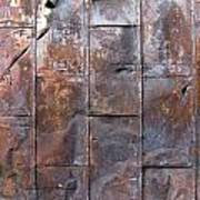 Rusty Plate Door 2 Art Print