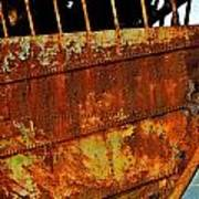 Rusty Remains Of An Old Boat Art Print