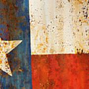 Rusty Texas Flag Rust And Metal Series Art Print