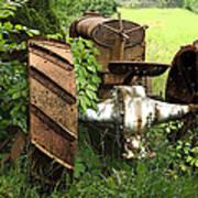 Rusty Tractor 1  Art Print
