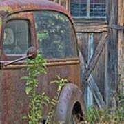 Rusty Vintage Ford Panel Truck Art Print