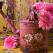 Rusty Watering Can Art Print