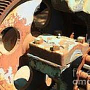 Rusty Wheel Gear Art Print