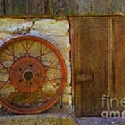 Rusty Wheel Art Print
