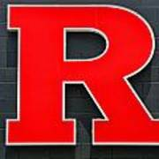 Rutgers Block R Art Print