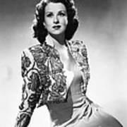 Ruth Warrick, Ca. Late 1940s Art Print