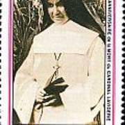 Rwanda Stamp Art Print