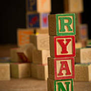 Ryan - Alphabet Blocks Art Print