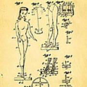 Ryan Barbie Doll Patent Art 1961 Art Print
