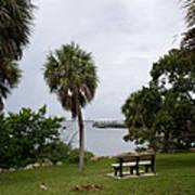 Ryckman Park In Melbourne Beach Florida Art Print by Allan  Hughes