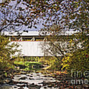 Ryot Covered Bridge And Stream Art Print