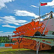 S S Klondike On Yukon River In Whitehorse-yt Art Print