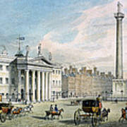 Sackville Street, Dublin, Showing The Post Office And Nelsons Column Art Print