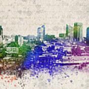 Sacramento City Skyline Art Print by Aged Pixel