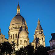 Sacre Coeur - Night View Art Print