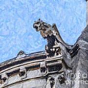 Sacre Coeur Gargoyle Art Print
