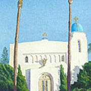 Sacred Heart Church Coronado Art Print by Mary Helmreich