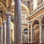 Sacred Heart Of Jesus Church Rome Italy Art Print